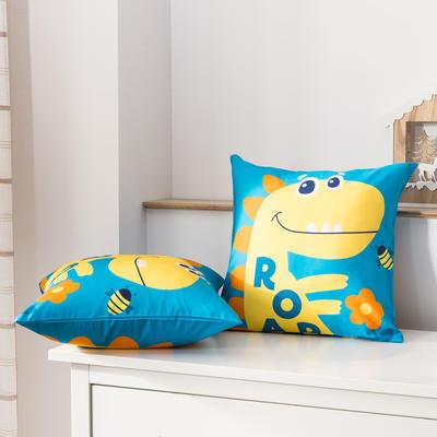 2020新款-全棉大版单品-抱枕 45x45cm/一只含枕芯 中华恐龙