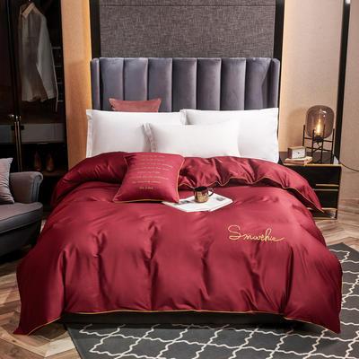 全棉40H系列刺绣轻奢景单品被套 200X230cm H朵红-单被套