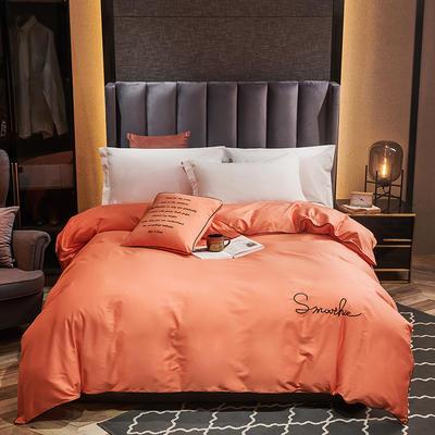 全棉40H系列刺绣轻奢景单品被套 200X230cm H桔色-单被套