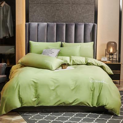 2020新款-全棉40H系列刺绣轻奢景-四件套 床单款四件套1.5m床 H果绿