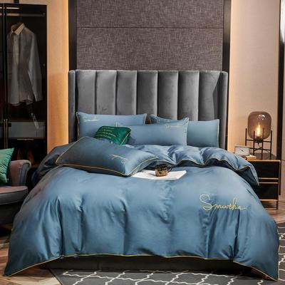 2020新款-全棉40H系列刺绣轻奢景-四件套 床单款三件套1.2m床 H皇家兰