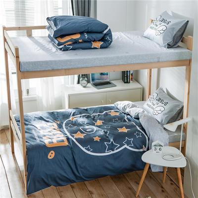学生三件套-全棉平网大版卡通系列 床笠款1.2m床 2019猪