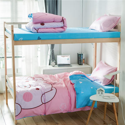 学生三件套-全棉平网大版卡通系列 床单款1.2m床 baby猪