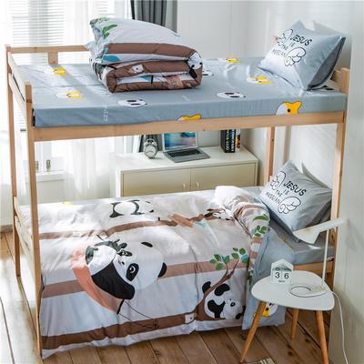 学生三件套-全棉平网大版卡通系列 床单款1.2m床 抱抱熊