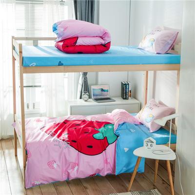 学生三件套-全棉平网大版卡通系列 床笠款1.2m床 草莓