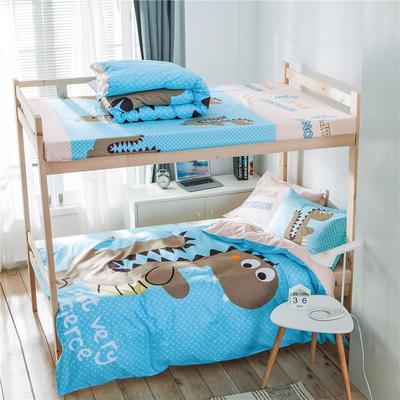 学生三件套-全棉平网大版卡通系列 床单款1.2m床 大话侏罗纪