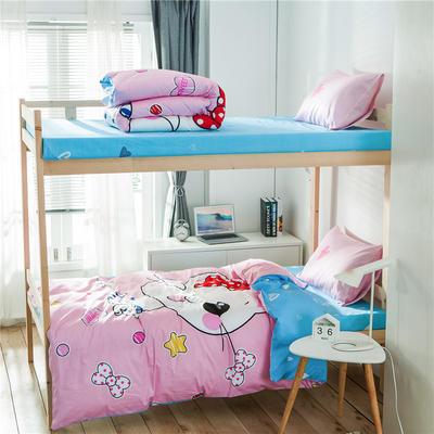 学生三件套-全棉平网大版卡通系列 床笠款1.2m床 花花