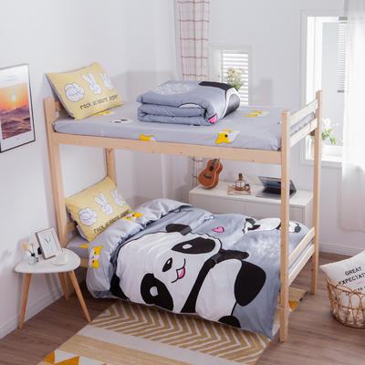 学生三件套-全棉平网大版卡通系列 床笠款1.2m床 欢乐玩伴