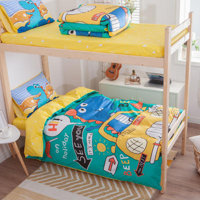 学生三件套-全棉平网大版卡通系列 床笠款1.2m床 恐龙假日