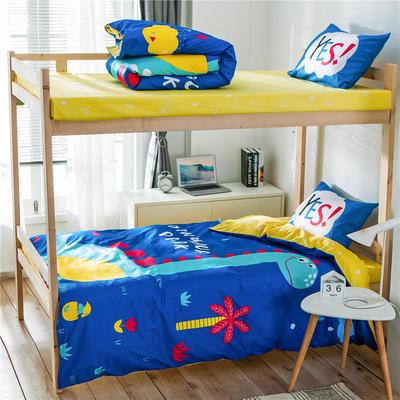 学生三件套-全棉平网大版卡通系列 床笠款1.2m床 恐龙乐园