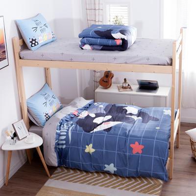 学生三件套-全棉平网大版卡通系列 床笠款1.2m床 麦兜