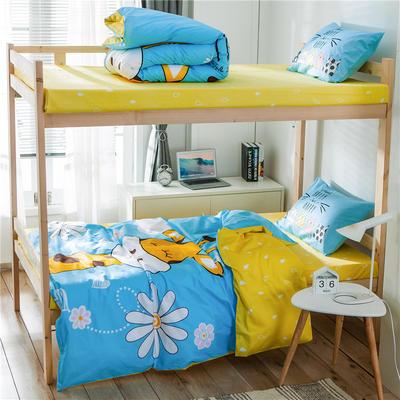 学生三件套-全棉平网大版卡通系列 床单款1.2m床 萌鹿