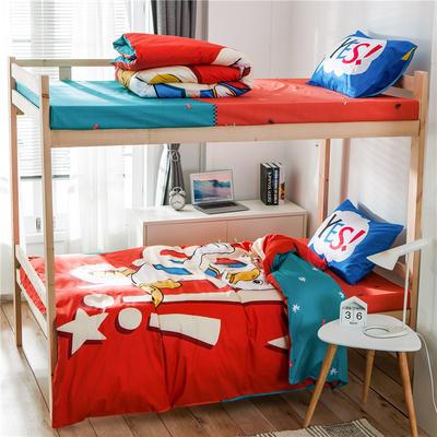 学生三件套-全棉平网大版卡通系列 床单款1.2m床 探险记