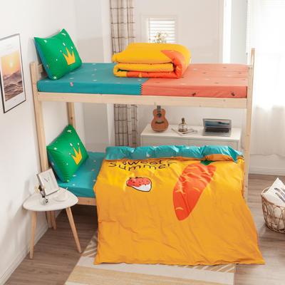 学生三件套-全棉平网大版卡通系列 床笠款1.2m床 甜美
