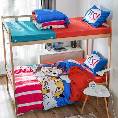 学生三件套-全棉平网大版卡通系列 床笠款1.2m床 童真