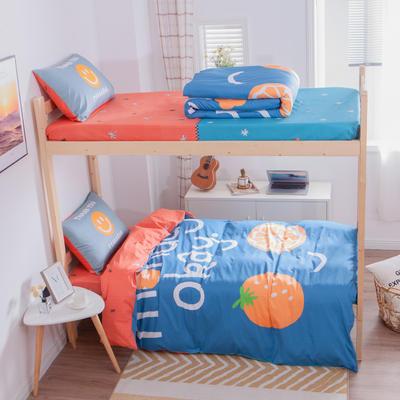 学生三件套-全棉平网大版卡通系列 床笠款1.2m床 微笑