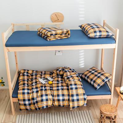 2020新款-学生三件套-全棉新英伦风系列 床单款三件套1.2m(4英尺)床 安道尔