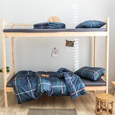 2020新款-学生三件套-全棉新英伦风系列 床笠款三件套1.2m(4英尺)床 卡拉奇