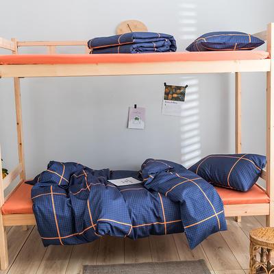 2020新款-学生三件套-全棉新英伦风系列 床笠款三件套1.2m(4英尺)床 开罗