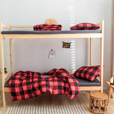 2020新款-学生三件套-全棉新英伦风系列 床笠款三件套1.2m(4英尺)床 马里