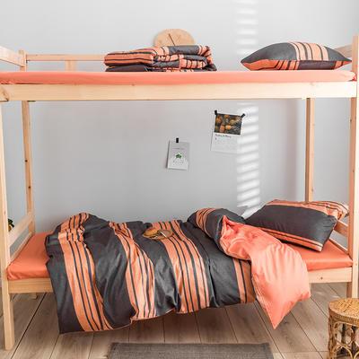 2020新款-学生三件套-全棉新英伦风系列 床笠款三件套1.2m(4英尺)床 桑托斯