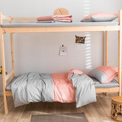 2020新款-学生三件套-全棉新英伦风系列 床笠款三件套1.2m(4英尺)床 圣菲
