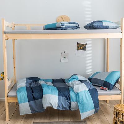 2020新款-学生三件套-全棉新英伦风系列 床单款三件套1.2m(4英尺)床 图雷-兰