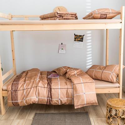 2020新款-学生三件套-全棉新英伦风系列 床单款三件套1.2m(4英尺)床 雅典