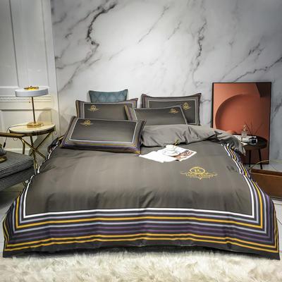 2020新款秋冬-全棉臻品轻奢平网系列四件套 床单款四件套1.5m床 科多尔