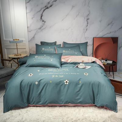 2020新款秋冬-全棉臻品轻奢平网系列四件套 床单款四件套1.5m床 莫奈特
