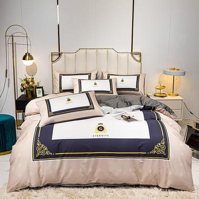 活性轻奢加厚磨毛平网系列四件套 1.8m床单款四件套 班奈特