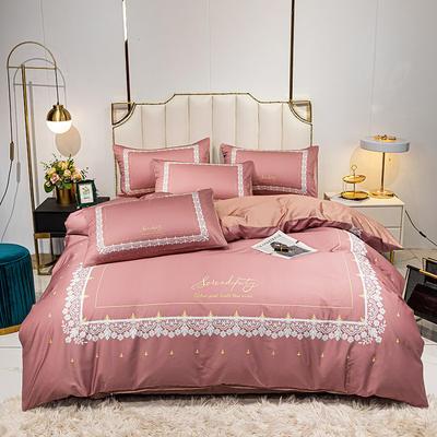 活性轻奢加厚磨毛平网系列四件套 1.8m床单款四件套 达尔希娅
