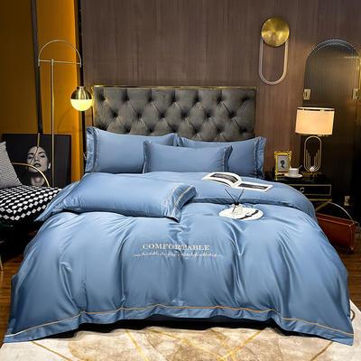 2020新款-全棉GD系列刺绣款四件套 1.5m床单款四件套 GD-皇家蓝