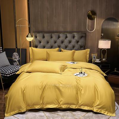 2020新款-全棉GD系列刺绣款四件套 1.5m床单款四件套 GD-姜黄