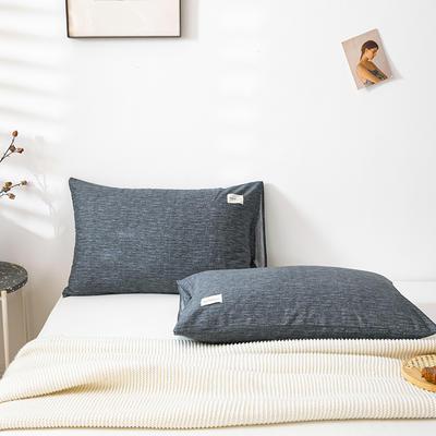 全棉简约无印织标系列(单枕套) 48*74cm/对 爱琴海