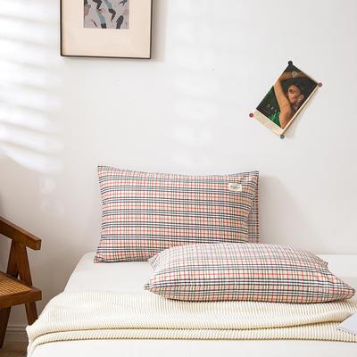 全棉简约无印织标系列(单枕套) 48*74cm/对 宝来