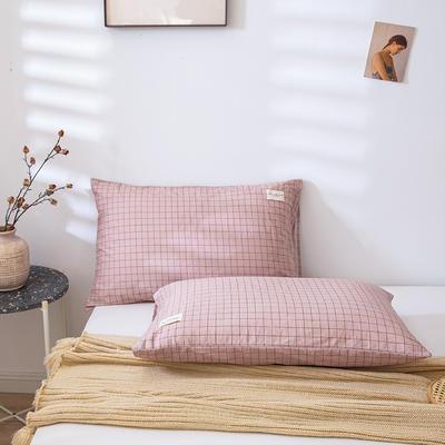 全棉简约无印织标系列(单枕套) 48*74cm/对 贝塔