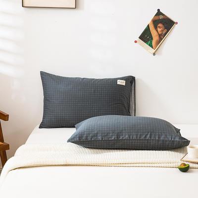 全棉简约无印织标系列(单枕套) 48*74cm/对 格兰