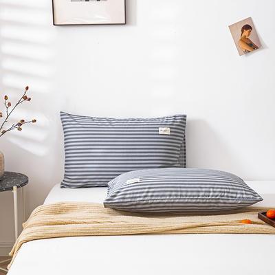 全棉简约无印织标系列(单枕套) 48*74cm/对 慢生活