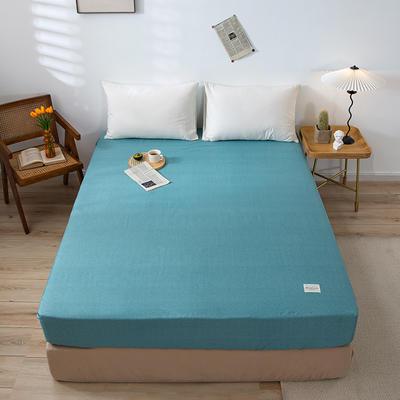 全棉简约无印织标系列(单床笠) 150cmx200cm 蓝调