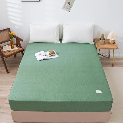 全棉简约无印织标系列(单床笠) 150cmx200cm 绿植