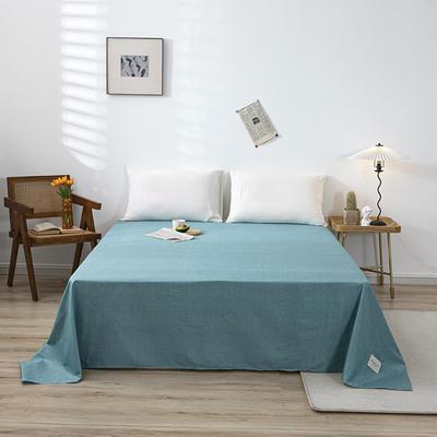 全棉简约无印织标系列(单床单) 120cmx230cm 蓝调