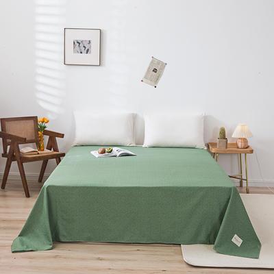 全棉简约无印织标系列(单床单) 120cmx230cm 绿植