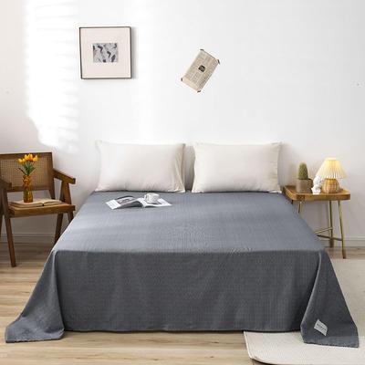 全棉简约无印织标系列(单床单) 120cmx230cm 炫灰