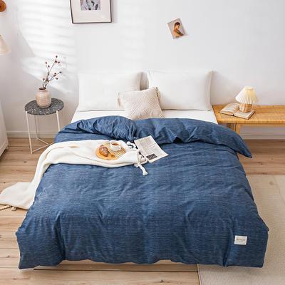 全棉简约无印织标系列(单被套) 180x220cm 锦蓝