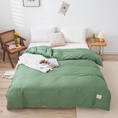 全棉简约无印织标系列(单被套) 180x220cm 绿植
