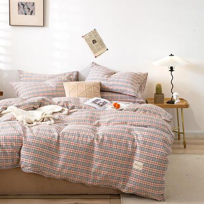 全棉简约无印织标系列(四件套) 1.2m床单款四件套 宝来