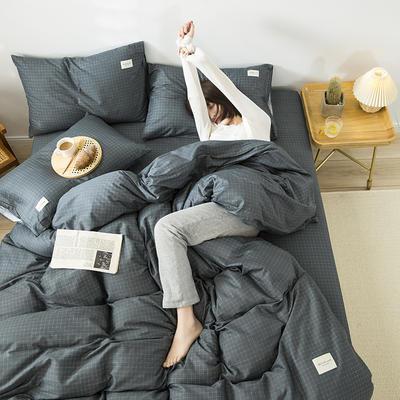 全棉简约无印织标系列(四件套) 1.2m床单款四件套 格兰