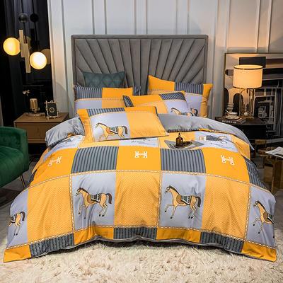 圆网水洗真丝四件套 1.8m床单款四件套 奥提伯斯