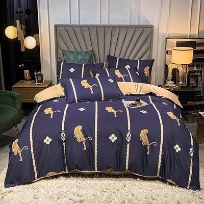 圆网水洗真丝四件套 1.8m床单款四件套 斯图尔特
